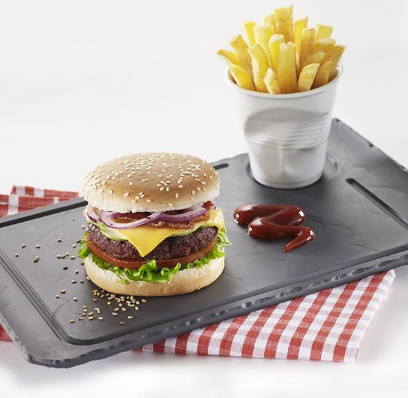 assiette hamburger revol assiette hamburger la. Black Bedroom Furniture Sets. Home Design Ideas
